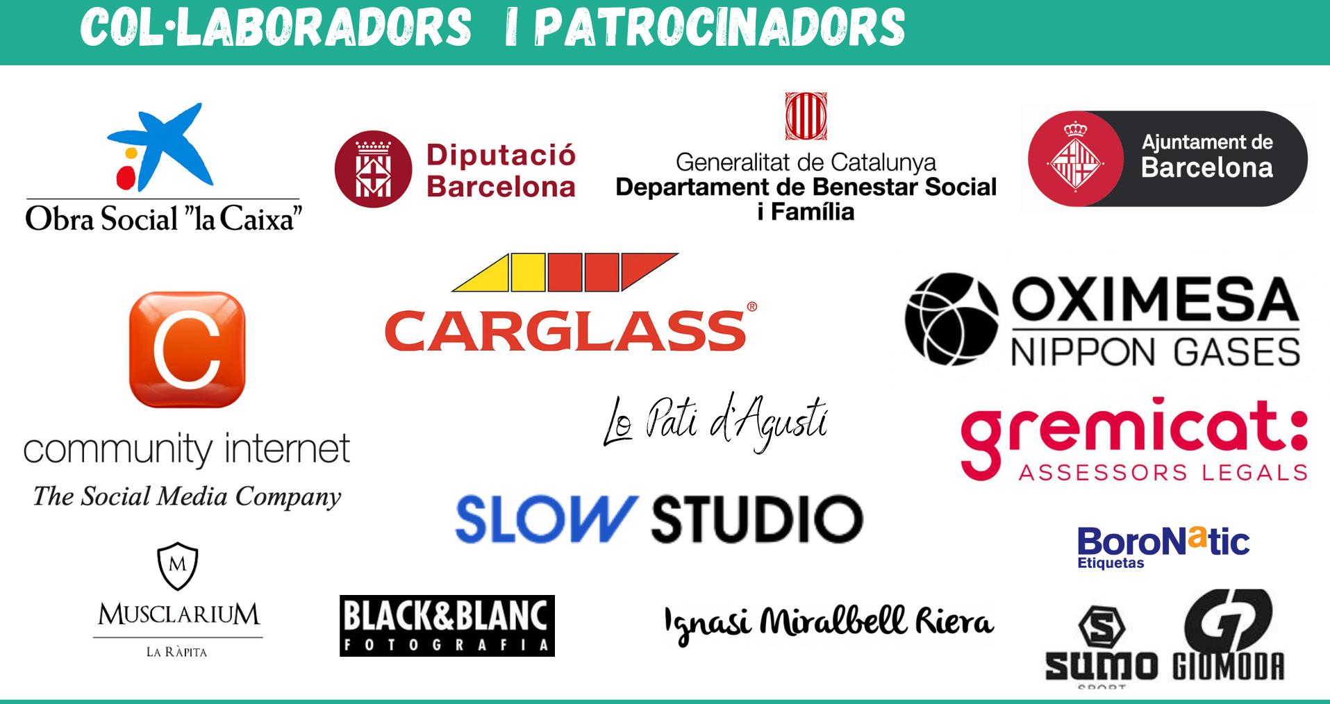 Logos Patrocinadors i col.laboradors la finestra AIS ajuda Delta
