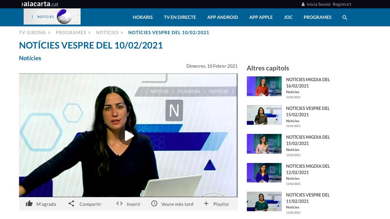 TV Girona LA FINESTRA AIS AYUDA