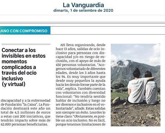 AIS Ajuda, en La Vanguardia. Detalle